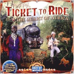 Buy Ticket to Ride Map Collection: Volume 3 - The Heart Of Africa the game expansion online in NZ