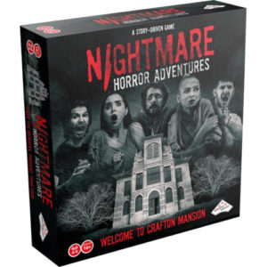 Buy Nightmare Horror Adventures: Welcome to Crafton Mansion the board game online in NZ