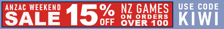 15% off all NZ Games - this Anzac Weekend only