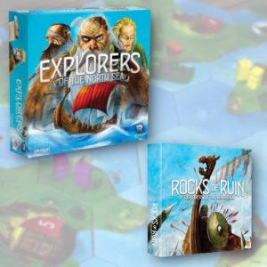 Buy Explorers plus Rocks of Ruin Bundle the board game bundle online in NZ