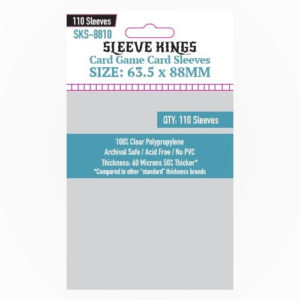 Buy Sleeve Kings Standard Clear 60 micron - Pack of 110 (SKS-8810) the game accessory online in NZ